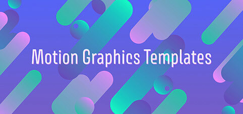Sjablonen voor motion graphics